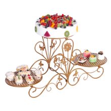 New European tieyi multi-layer cake shelf creative three-layer dessert tray wedding