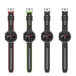 Image 5 - Dla Huami Amazfit GTR 47MM silikonowy zegarek zespół mężczyźni kobiety Sport inteligentny zegarek pasek do Samsung galaxy zegarek 3 45mm gt gt2 46mm
