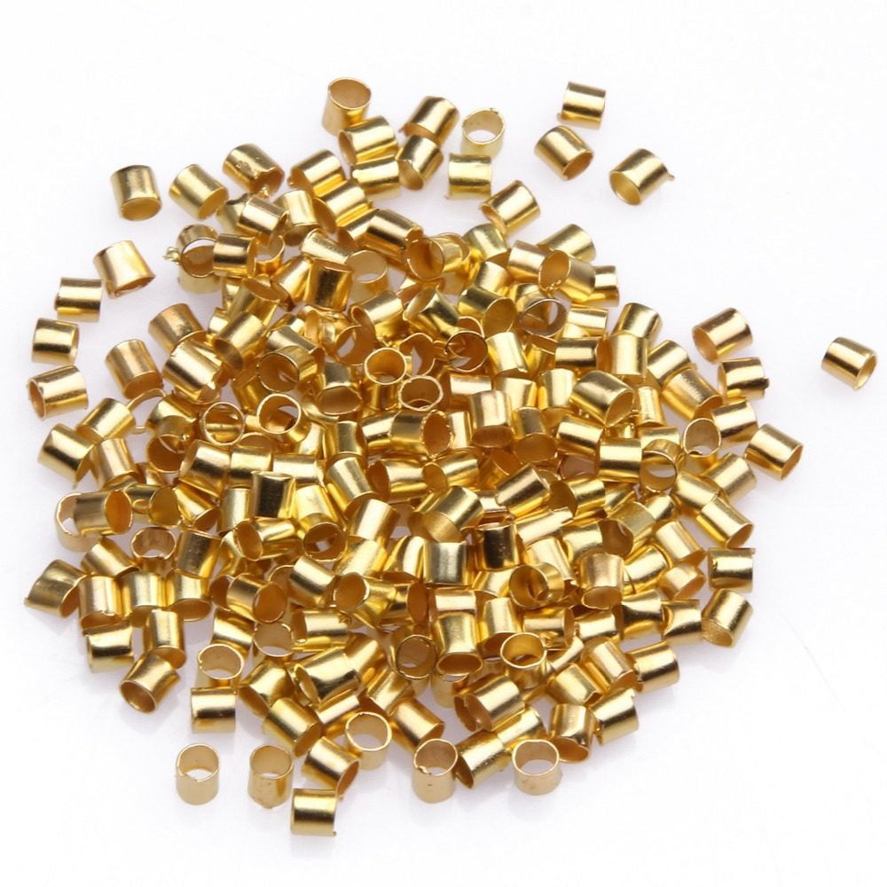 20g about 800pcs Crimp End Beads Tube Jewelry Craft Findings Wholesales 2x2x2mm