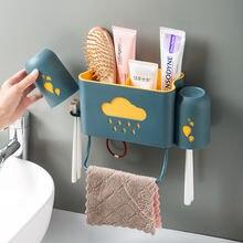 Перфорация Ванная комната настенная полка органайзер для хранения