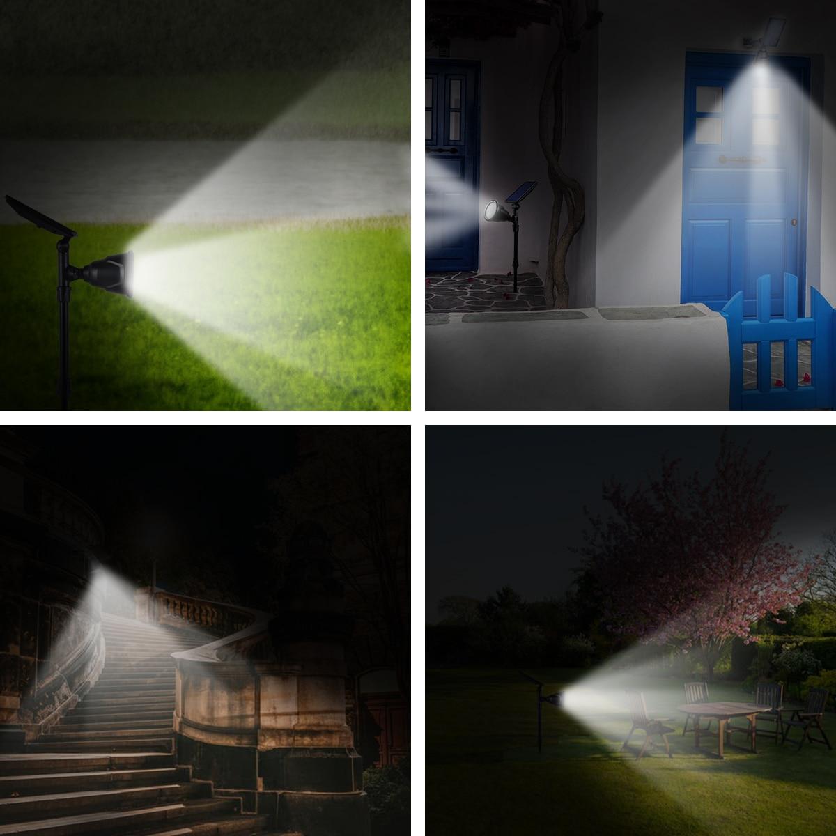 Luzes solares do ponto ao ar livre