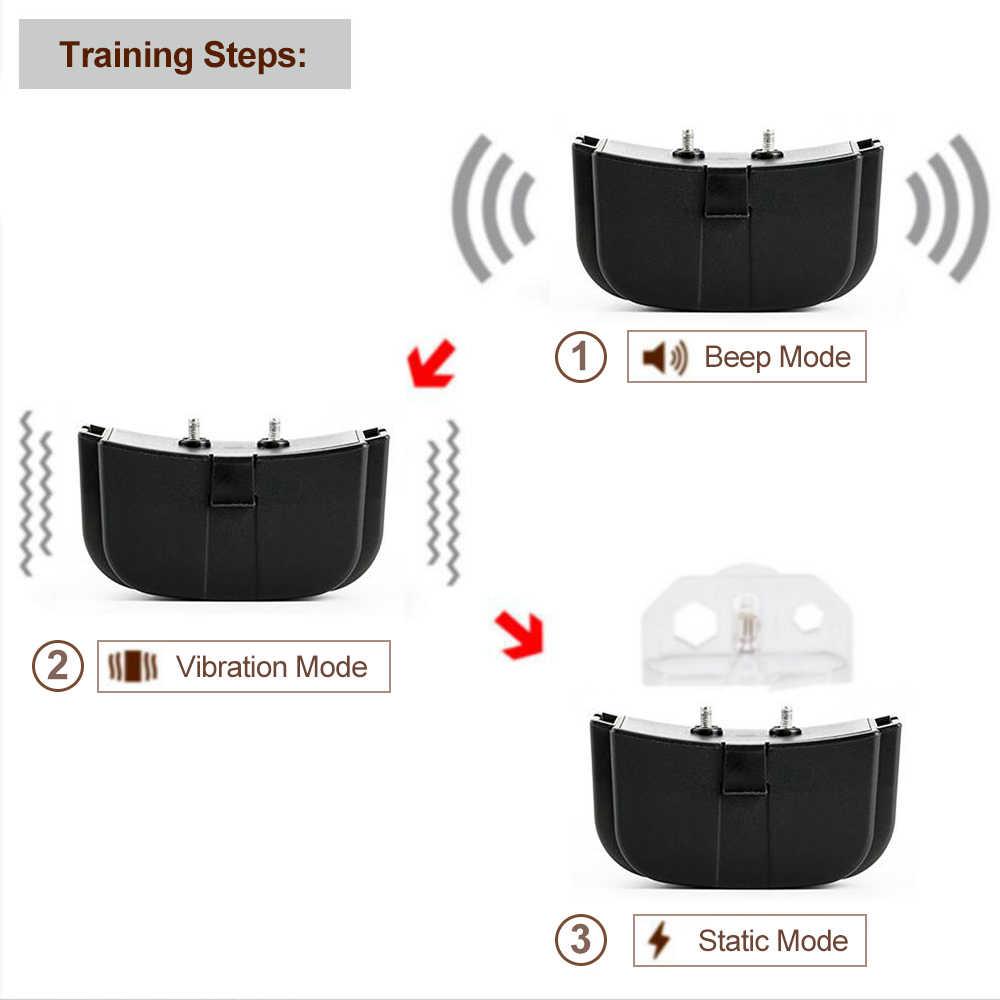 300m coleira de treinamento do cão elétrico à prova dwaterproof água pet controle remoto com lcd remoto para todo o tamanho choque vibração som colar do animal estimação