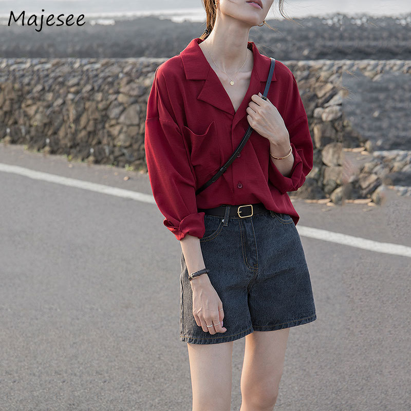 Blouses Women Solid Chiffon Summer Breathable All-match Elegant Simple Casual Soft Womens Shirt Workwear Ladies Korean Style New