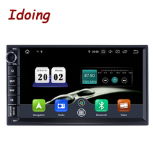 "Idoing 2din android 7 ""px5 4g + 64g 8 núcleo universal carro gps dsp rádio player ips tela de navegação multimídia bluetooth 2 din"