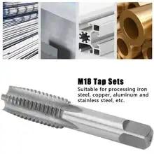 Metric Thread Machine Taps 5pcs Taper Tap with 5pcs Plug Tap M3 Carbon Steel Straight Groove Taps