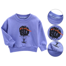 Baby Boy Clothes 0-4T Autumn New Cartoon Graffiti Letter Print Tops Fashion Novel Long-sleeved Toddler Boys Sweatshirts #m