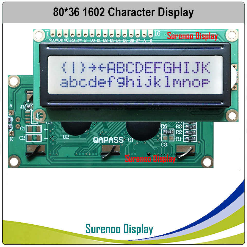 162 16X2 1602 Character LCD Module Display Screen LCM FSTN Postive with White LED Backlight