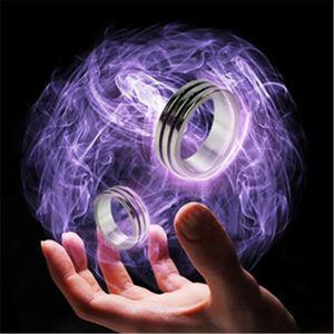 Черный два круга Pk кольцо Волшебные трюки сильный Магнитный Магнит Кольцо монета палец F3ME