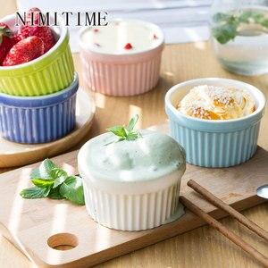 NIMITIME японский стиль керамическая суфле для выпечки, миска для выпечки, миска для домашнего десерта, чашка для пудинга, чашка для йогурта