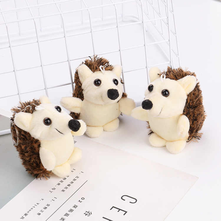 1PCS Cute Plush Hedgehog Toy Small Pendant Creative Mini Soft Stuffed Animal Toys Birthday Girls Playmate Gift Keychain toy