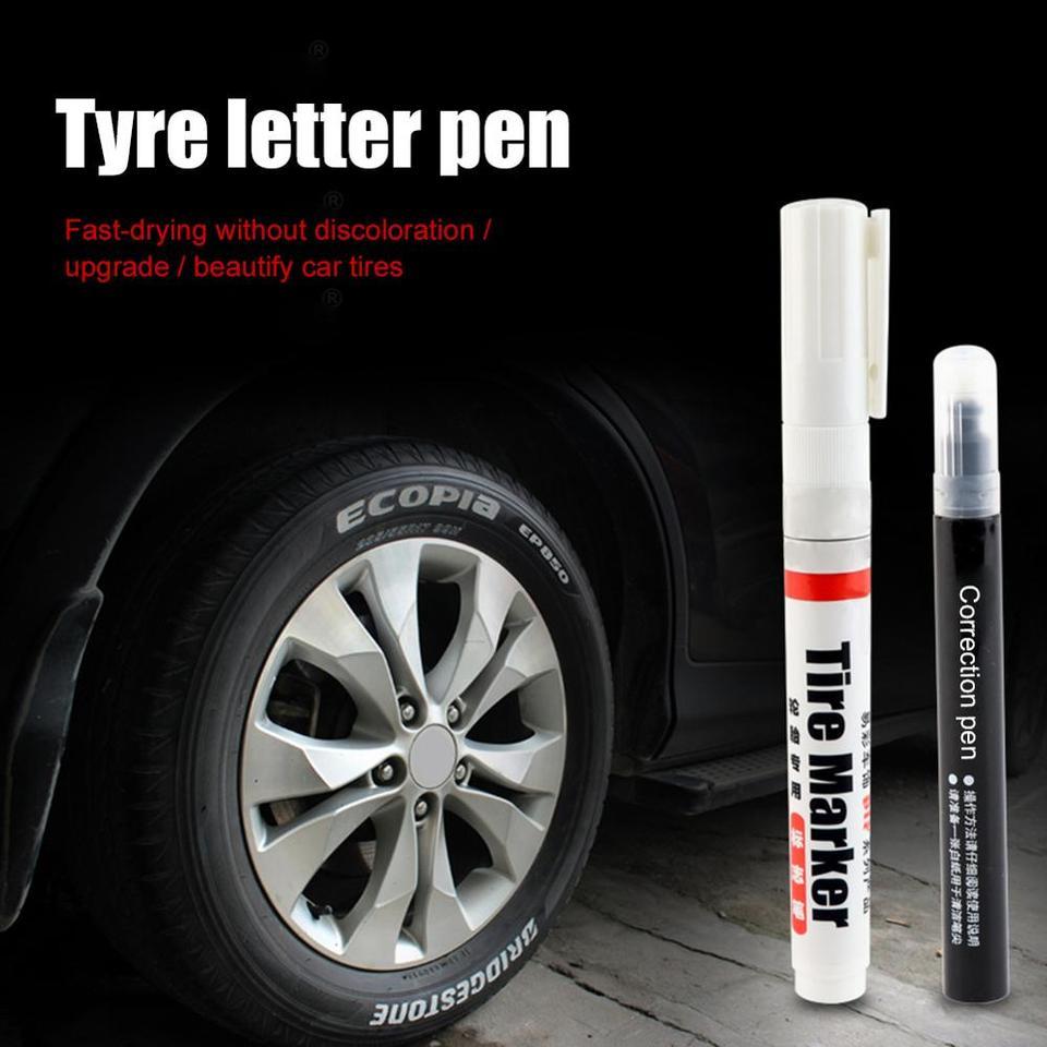 Permanent Waterproof Car Tyre Tire Metal Marker Paint Pen Quick-drying Useful UK