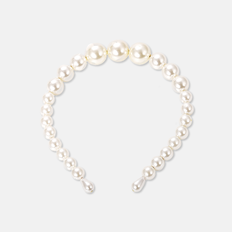 Fashion Imitiation Pearl Hairhoop Wome Elegant Hairbands For Girl Daliy Wedding Luxury Big Pearl Crown Headband Hair Accessories