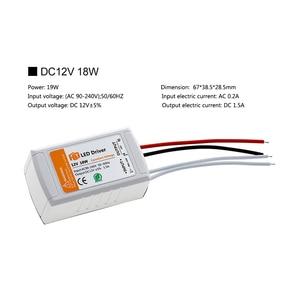 Светодиодный трансформатор, безопасный драйвер для светодиодных лент, 12 в пост. Тока, 18 Вт, 36 Вт, 72 Вт, 100 Вт