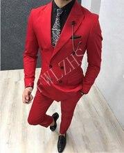 Новое поступление двубортные смокинги для жениха мужские костюмы