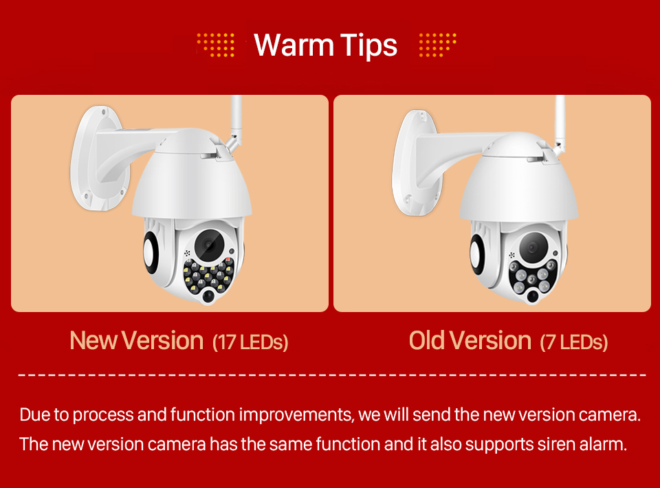 H2320af24a692402a8a2aa618c92c4984r 1080P Outdoor Wifi PTZ Camera with Siren Light Auto Tracking Cloud Home Security IP Camera 2MP 4X Digital Zoom Speed Dome Camera