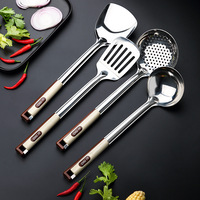 Stainless Steel Kitchen Cooking Tool Sets Turners Spatula Spoon Shovel Colander Pasta Rice Scoop Cooking Tool Set 1