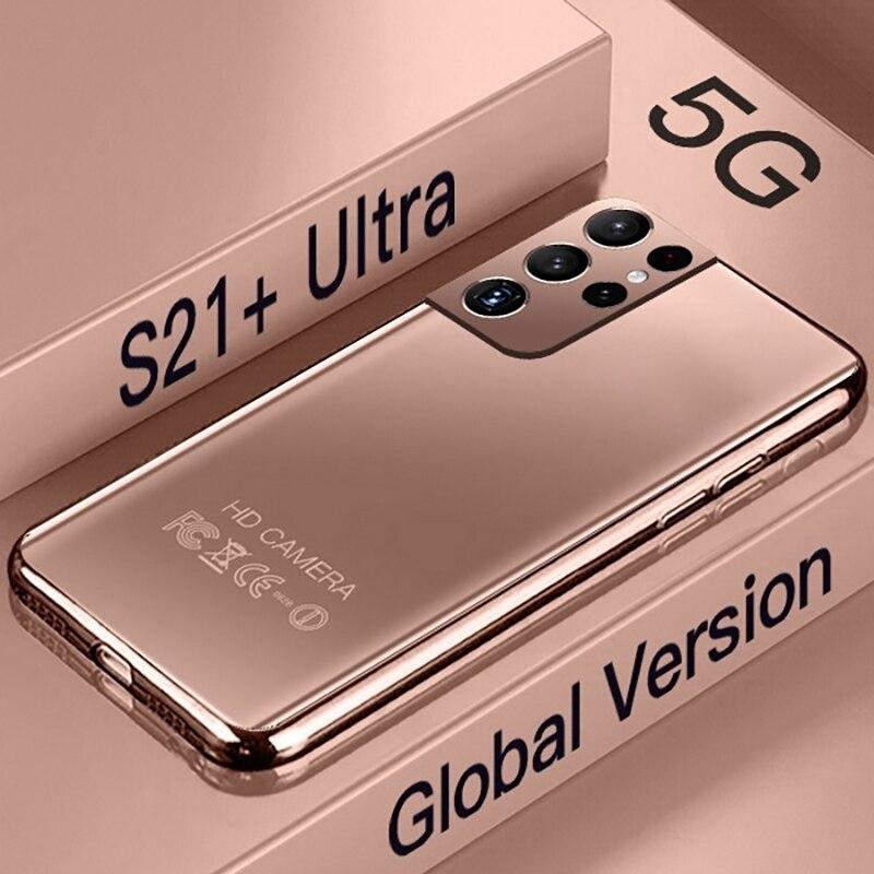 Новая версия Galay S21 + Ультра 5G 7,3 дюймовый смартфон 6800 мА/ч, 24MP + 48MP 12 Гб + 512 Гб разблокировки мобильных телефонов глобальная версия