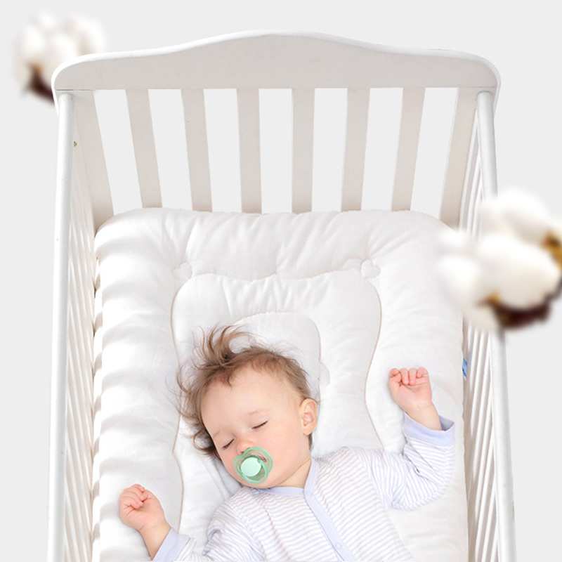 Baby Kids Cotton Bedding Crib Mattress Scorpion Baby Cot Crib Bedding Infant Cotton Mattress  Pure White Washable