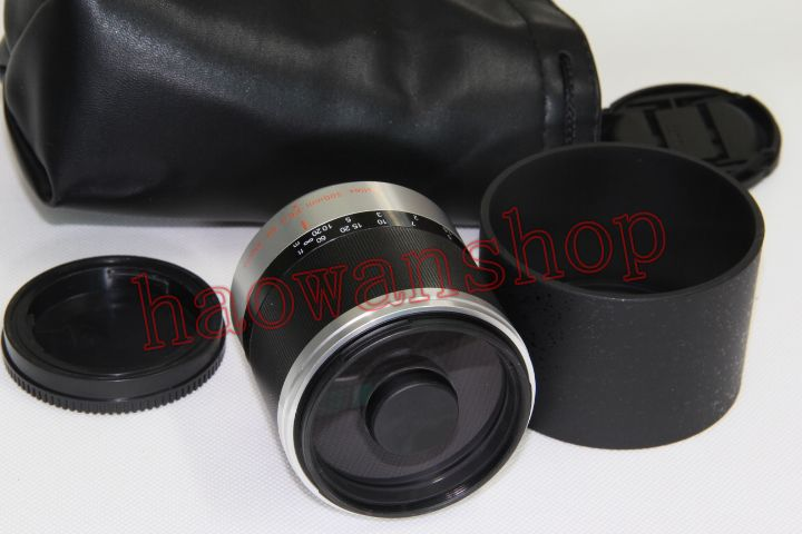 Trend Mark 300mm F6.3 F/6.3 Mirror Telephoto Lens For M43 Sony E Mount Nex3/5/7 A6300 A6500 A6000 A5100 A5000 A7r A9 Nikon N1 Amera
