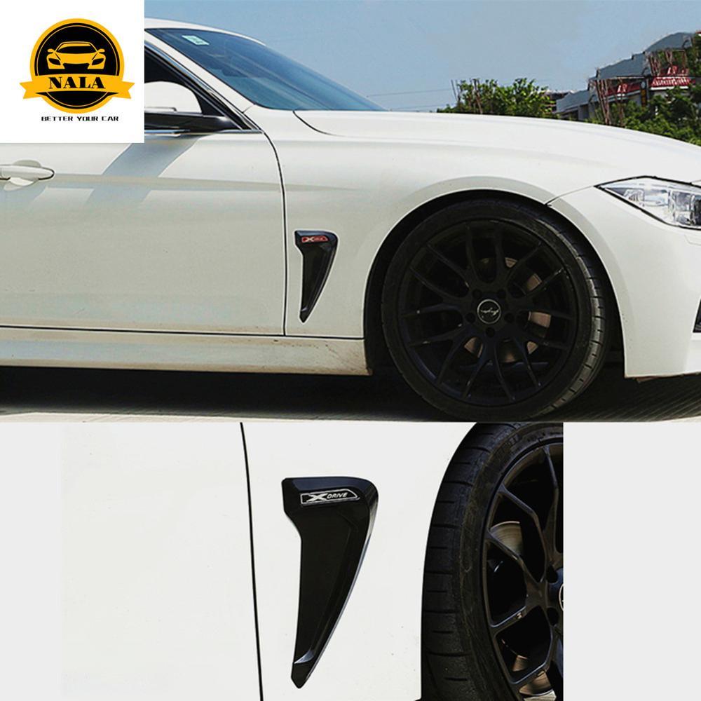 Прокат лицевой стороне, устанавливаемое на вентиляционное отверстие в салоне автомобиля крышка для BMW общего, для детей 1, 2, 3, 4, 5, 6 лет серии X1 X2 X3 X4 X5 X6 жабры акулы из АБС пластика 3D отделкой наклейки для автомобиля fender Декор