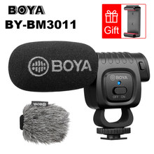 Boya BY-BM3011 on câmera cardioid condensador microfone, áudio, microfone de vídeo para canon nikon dslr pc, smartphone ao vivo, streaming, vlogs