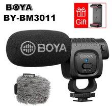 Boya BY BM3011 on câmera cardioid condensador microfone, áudio, microfone de vídeo para canon nikon dslr pc, smartphone ao vivo, streaming, vlogs