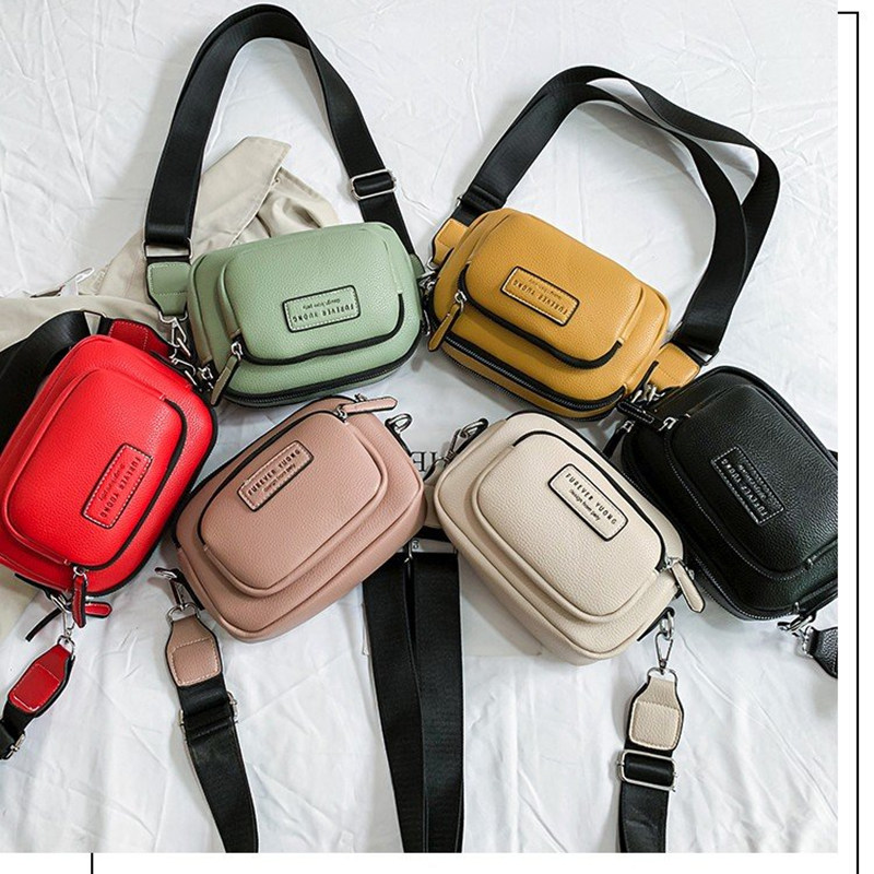 High Quality Leather Fashion Casual Broadband Messenger Bag Woman Famous Luxury Brand 2019 Autumn New Fashion Woman Bag in Top Handle Bags from Luggage Bags