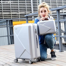 Luggage-Bag-Set Rolling-Luggage Travel-Suitcase Trolley On-Wheels 28inch KLQDZMS ABS
