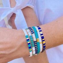 Go2boho tila pulseiras para mulheres miyuki pulseras jóias moda 2021 boêmio jóias estiramento pulseiras acessórios por atacado