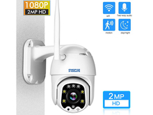 SNOSECURE waterproof 1080P PTZ IP Camera  Outdoor Speed Dome Wireless Wi-fi Security Camera Pan Tilt Network CCTV Surveillance
