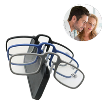 2019 Newest Mini Sticky Reading Glasses Nose Clip on Presbyopic Mens and Womens Glass Frame Black High Quality Unisex