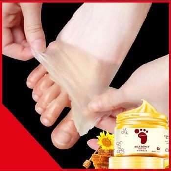150G Honey Milk Foot Wax Feet Mask Moisturizing Hydrating Nourishing Whitening Skin Care Peel Off Skin Care Exfoliating Anti-dry цена 2017