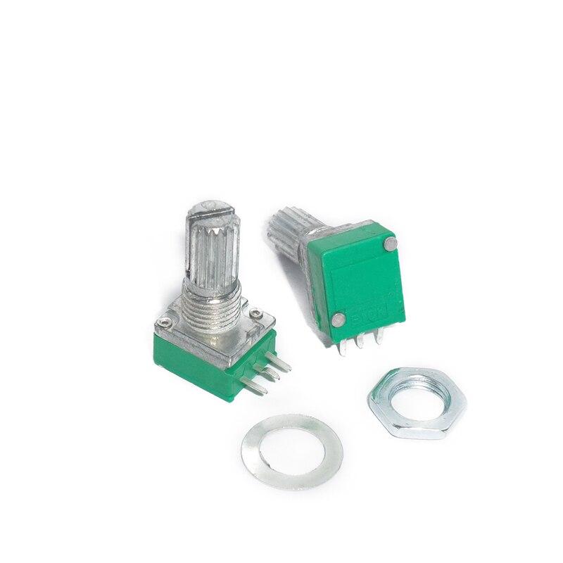 Герметичный потенциометр RK097N, B10K B100K B5K B20K B50K B500K, 3 контакта, 15 мм, вал усилителя звука, уплотнительный вращающийся потенциометр, 10 шт.