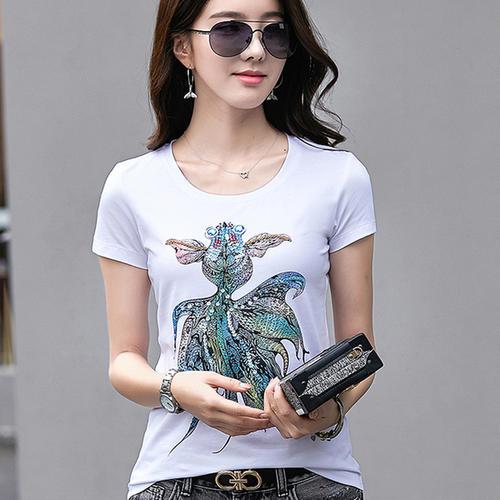 Sleeve  2020 Women Mint   Short Shirt Top Garment