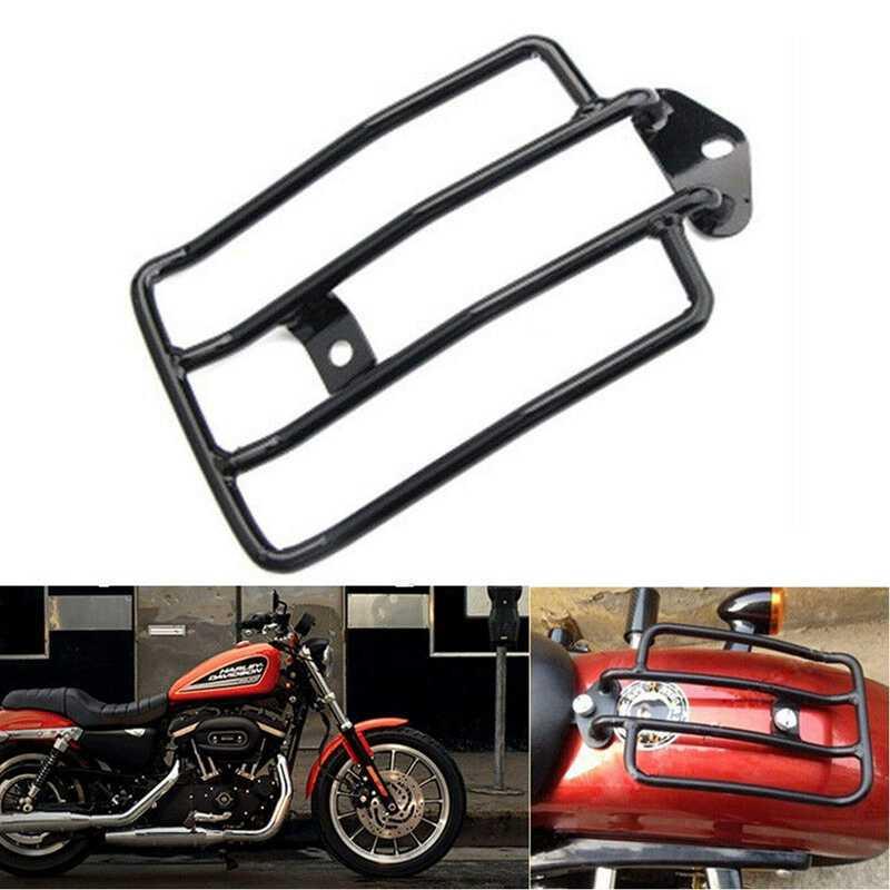 EVGATSAUTO Portaequipajes de Motocicleta Guardabarros portaequipajes Marco de Soporte de Respaldo Apto para Nightster Roadster XL883 XL1200