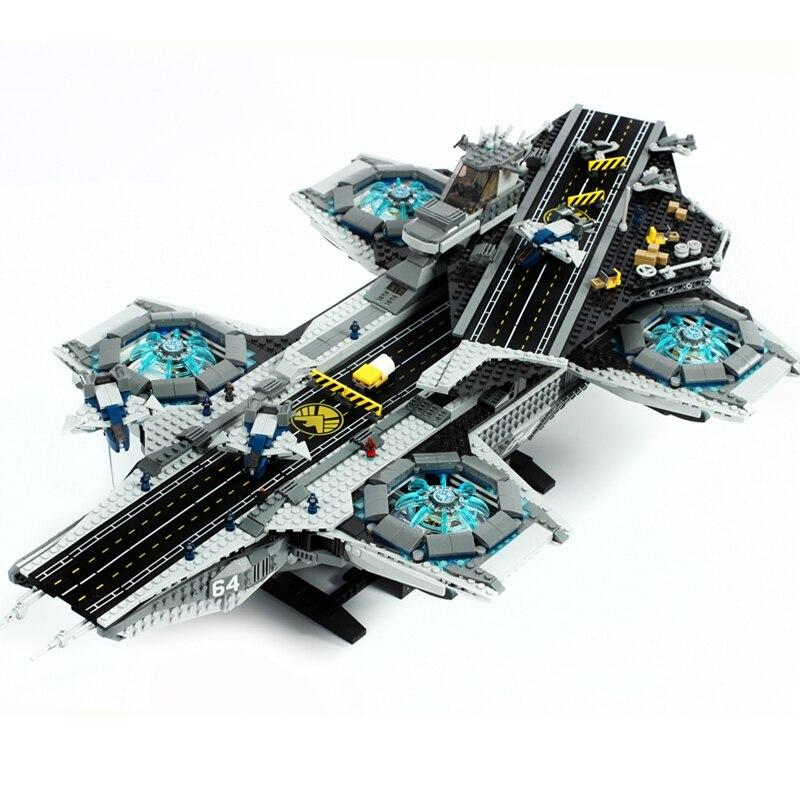 Para legoing marvel super heroes ucs o escudo helicoarrier conjunto legoing vingadores endgame filme flagship blocos de brinquedo nave espacial presente