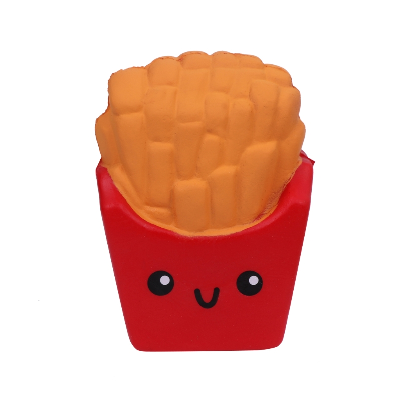 French Fries Scented Slow Rising Stress Relief Squeeze Hand Toy Jumbo Kids Gift 634F