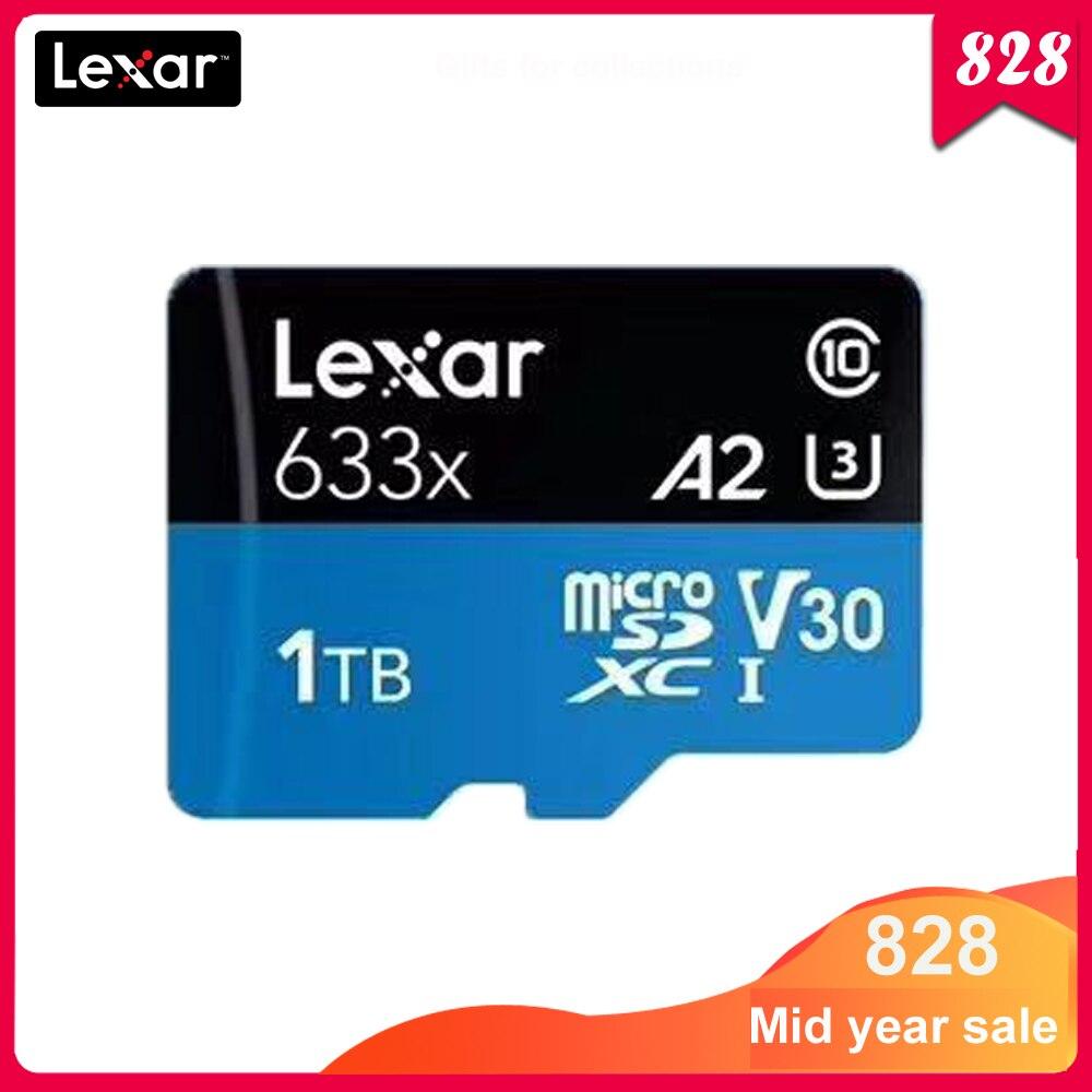 Tarjeta Micro SD Lexar 633x Original de 1TB, 32GB, 64GB, 128GB, 256GB, tarjeta Micro sd de Clase 10, tarjeta tf para cambiar de teléfono móvil
