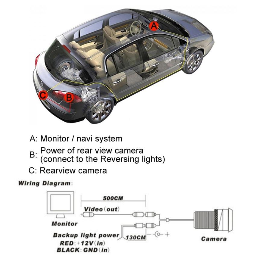 Car Parking Camera Rear View Camera CCD HD Night Vision Waterproof high quality