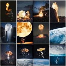 Diy картина по номерам Луна астронавт комплект маслом пейзаж
