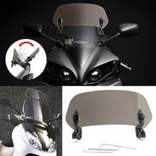 Accessories Deflector Protector Windscreen Clip-on Professional Waterproof Spoiler Universal Adjustable Risen Motorcycle #726