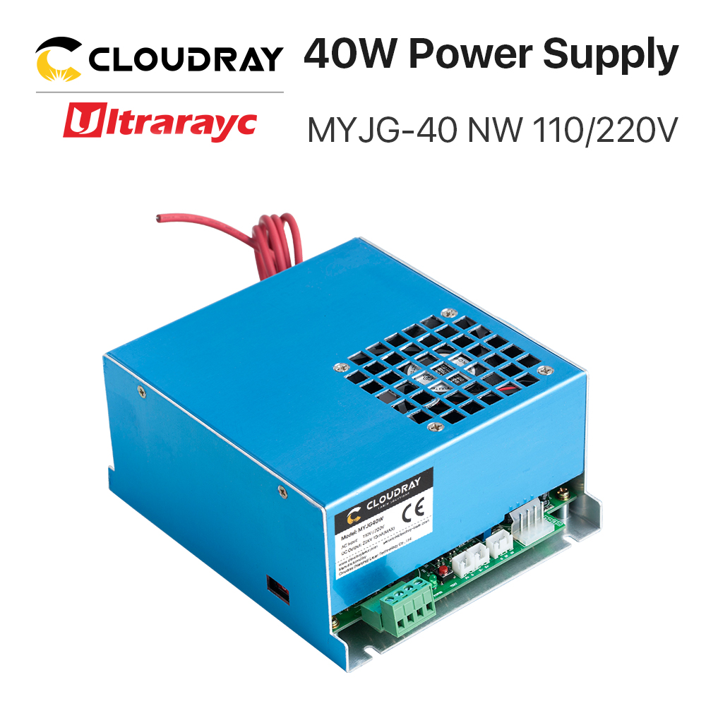 Ultrarayc 40W CO2 Laser Power Supply MYJG-40 110V 220V For CO2 Laser Engraving Cutting Machine 35-50W