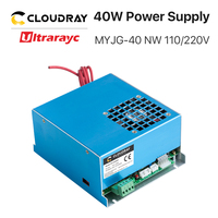 Ultrarayc 40W CO2 Laser Power Supply MYJG 40 110V 220V for CO2 Laser Engraving Cutting Machine 35 50W