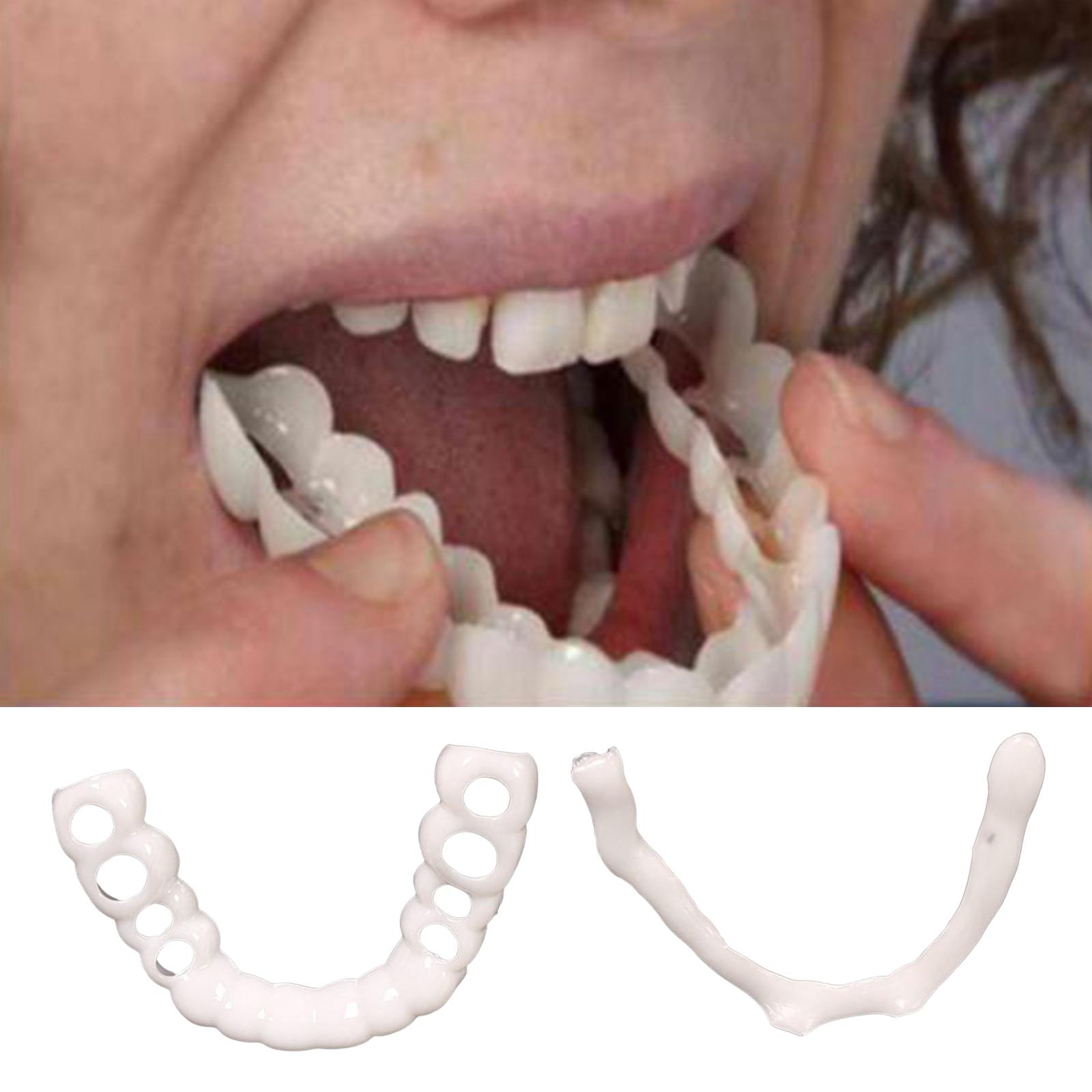 Верхние нижние/верхние нижние многоразовые зубные виниры временные поддельные зубы