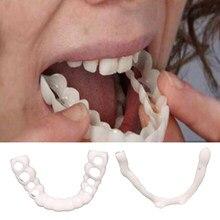 Parte inferior superior/parte superior inferior reusável dentes folheados falsos temporários dentes