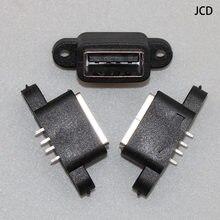 2 pièces/lot étanche USB 2.0 données de charge queue enfichable USB intégré interface Port connecteur prise Jack prise