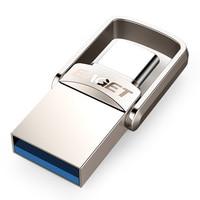 EAGET CU20 USB Flash Drive 32GB OTG Metal USB 3.0 Pen Drive Key 64GB Type C High Speed pendrive Mini Flash Drive Memory Stick