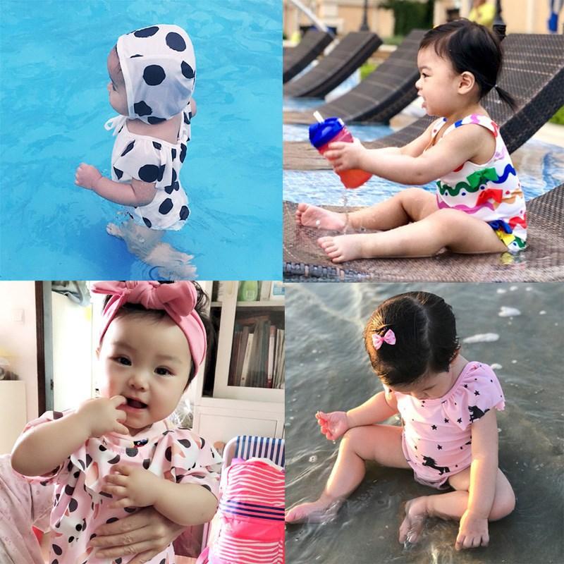 Young Children Bathing Suit Women's Small CHILDREN'S CHILDREN'S Baby Princess Korean-style Cute Children GIRL'S One-piece Conser