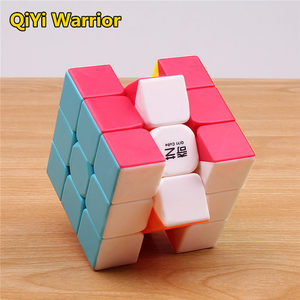 Image 4 - qiyi warrior s Magic Cube Colorful stickerless speed 3x3 cube antistress 3x3x3 Learning&Educational Puzzle Cubes Toys