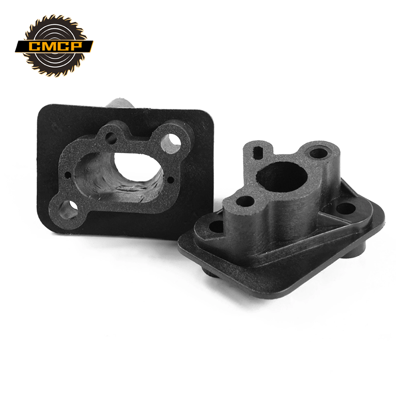 1 Set 40-5 43CC 52CC Grass Brush Trimmer Cutter Intake Manifold Carburetor Base Connector Admitting Pipe Carb Adaptor